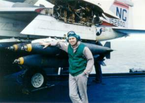 Kelly Next To A-6 on USS Enterprise (1967)